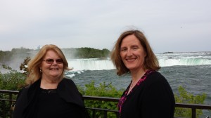 Dr. Roberta Neault and Dr. Helen Massfeller in Niagara Falls last week.