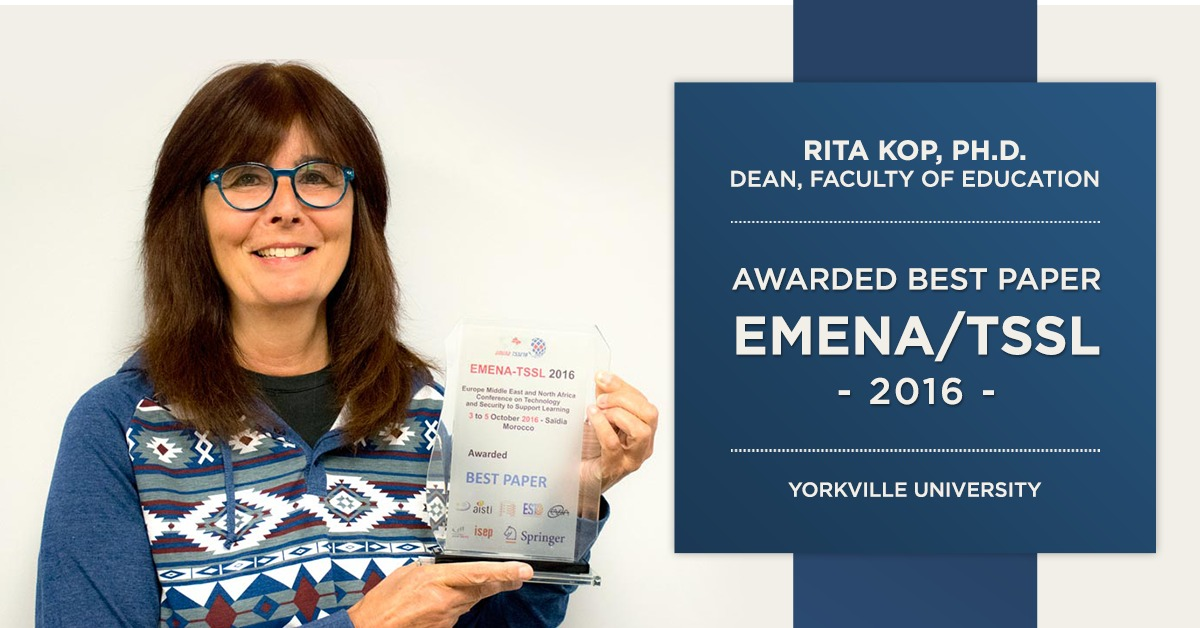 Yorkville Dean, Rita Kop, Wins Best Paper at Conference in Morocco