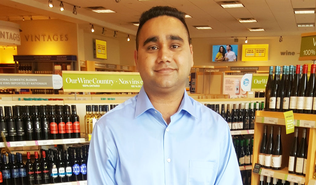 Yorkville University BBA student steps closer to dream of liquor store ownership with new LCBO job